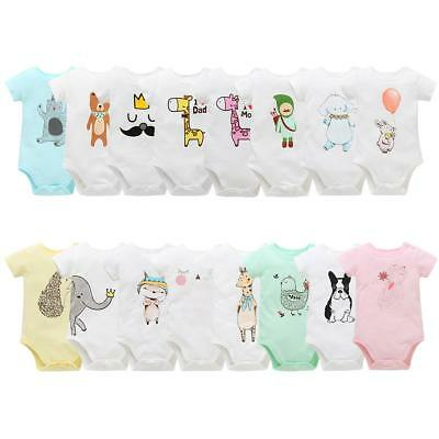 Newborn Infant Kids Baby Boy Girl Cotton Romper Bodysuit Jumpsuit Clothes Outfit