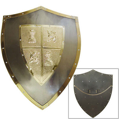 Medieval Style El Cid Shield Knight Armor Steel with Cross Renaissance Costume