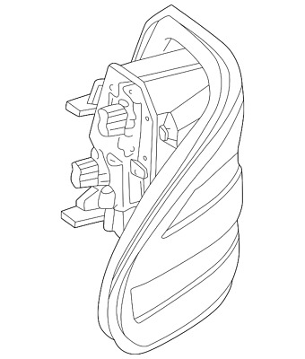 Genuine Mercedes Benz Tail Lamp Assembly 164 820 30 64