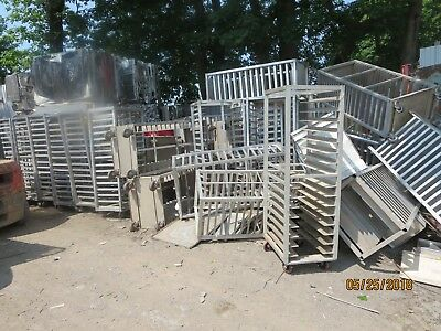 Lot of kitchen bakery speed racks rolling carts sheet pan aluminum