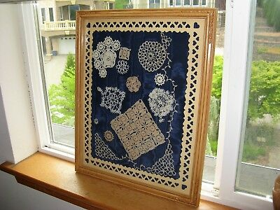 Framed Antique~Vintage Handmade Lace collection, tatting, Doilies & Trim