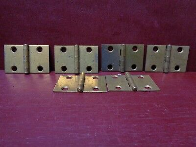 6 Vintage Small Shutter Trinket Box Small Cabinet Door Hinges More Available #0