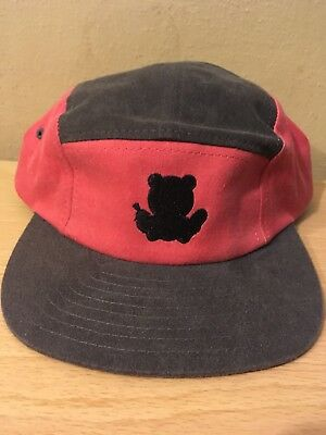 Grizzly Griptape 5 Panel Hat Buckle Adjustable Logo Cap Black 100% Authentic b828234d2e68