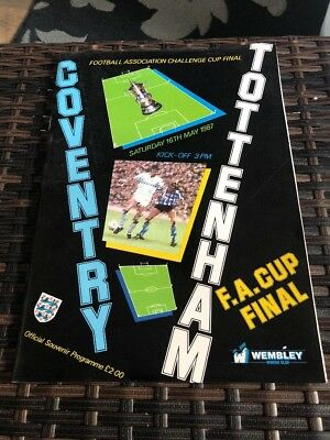 Coventry City V Tottenham Hotspur FA Cup Final 16th May 1987