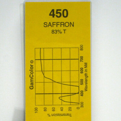 GAM  #450 Saffron gel color media filter sheet