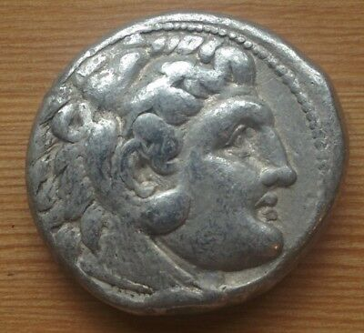 ALEXANDER THE GREAT- LIFETIME ISSUE Tetradrachm from Salamis Mint 332-323 B.C.