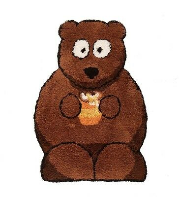 5 X Flair Bertie Bear Childrens Rugs in Brown 60cm X 90cm (2ft X 3ft)
