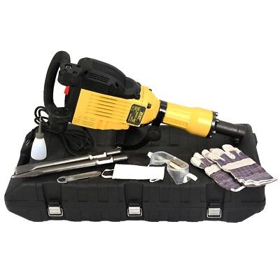 3600W Electric Demolition Concrete Jack Hammer Breaker w/ Carrying Case Tool US