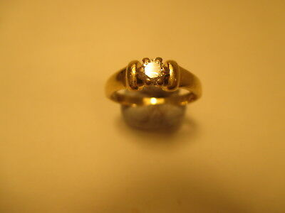 18ct Yellow Gold 0.20ct Diamond Solitaire Ring Size K
