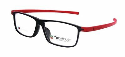 Tag Heuer Authentic Reflex Black Red 56mm TH3955 004 Eyeglasses Optical Frame