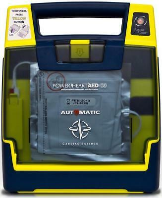 Cardiac Science G3 Automatic AED Defibrillator New Battery Sealed 9-2020 Pads
