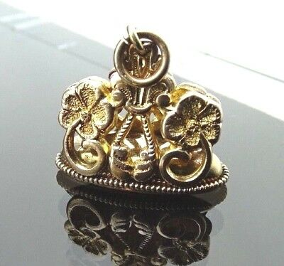 Victorian /antique gold filled pocket watch chain fob /Seal/charm bracelet