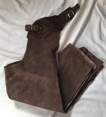 Brown Suede Full Chaps Adults Small VGC