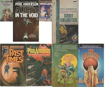 Poul Anderson lot of 8 mass-market paperbacks science fiction fantasy