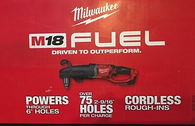 "New Milwaukee 2709-20 Super Hawg 1/2"" Right Angle Cordless 18 Volt Drill $349"