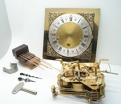 Urgos Germany Clock Movement UW06036A w/ Dial Key Hands & Chimes 2FIX For Parts