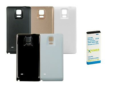 Long Life 8000mAh Extended Battery + Back Cover for Samsung Galaxy Note 4