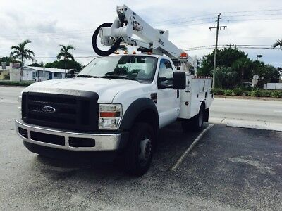 2008 Ford F550 diesel Bucket Truck, Altec AT37G 42' working height