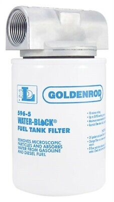 Goldenrod  Steel  Spin on Water Block Fuel Filter  25