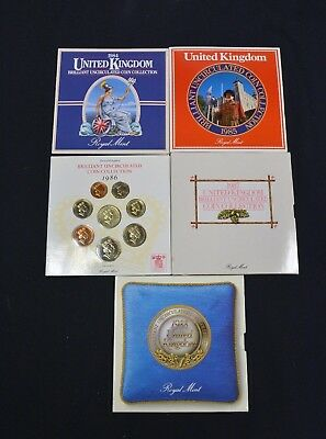 1984 85 86 87 88 United Kingdom Brilliant Uncirculated Royal Mint Collection Set