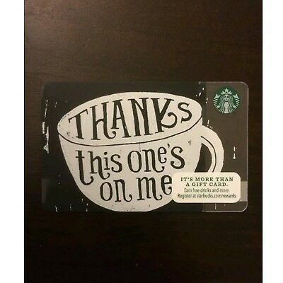 Starbucks Thanks This One's On Me Gift Card ($25 value, brand new)