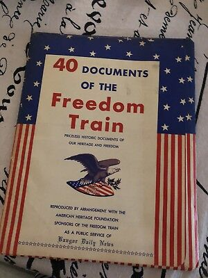 HISTORY COLLECTORS REPRODUCTION 40 DOCUMENTS of the FREEDOM TRAIN