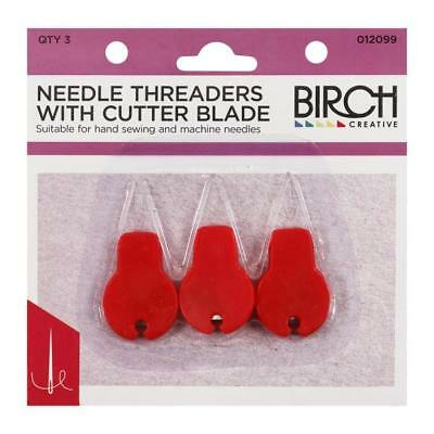 Birch - Needle Threaders With Cutter Blade - Qty 3