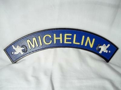 Cast Iron Michelin Man Bibendum With Tires Curved Sign Advertising Wall Sign!