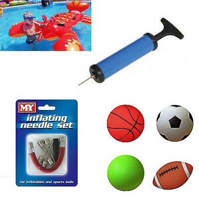 HAND PUMP INFLATABLE 4 TOYS YOGA BALL BALLOONS TOYS & FOOTBALL SPORTS AIR Pump