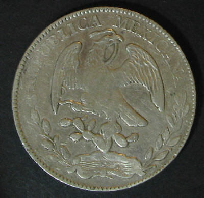 Mexico 8 Reales 1881-Zs JS,.903 Silver Mexican Coin