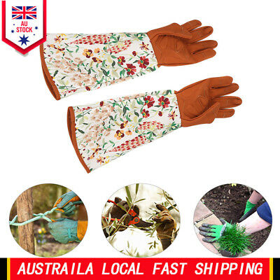 1Pair Long Sleeve Gardening Gloves Protector Garden Yard Pruning Trimming Tools