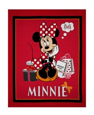 Disney Minnie Mouse Bow Tie Bliss Quilt Panel* New * Free Post *