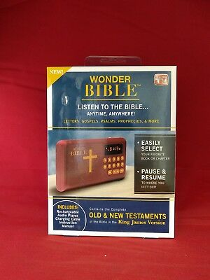 Wonder Bible Audio Player As Seen On Tv Listen To The Bible Anytime Anywhere NEW