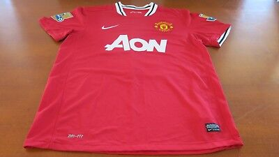 MANCHESTER UNITED BPL NIKE JERSEY SIZE L- No 15 VIDIC G/CONDITION