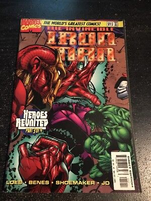 Iron Man#12 Incredible Condition 9.2(1997) Hulk,Avengers, Dr.Doom,Benes Art!