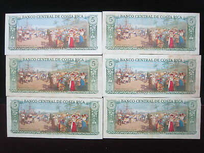 Costa Rica 5 Colones 1981 P236 Beautiful 86# World Bank Currency Money Banknote