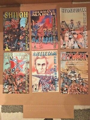 Lot Of 6 American Wars Comics From The Heritage Collection Including Issues 1,