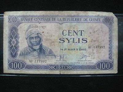 Central Guinea 100 Sylis 1980 P26 Guinee 12# ~ ~ ~ World Currency Money Banknote
