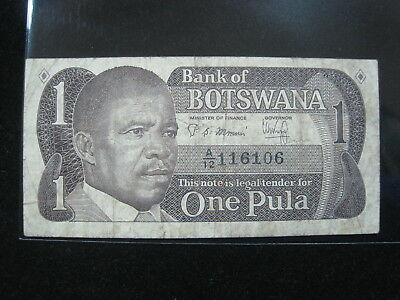 Botswana 1 Pula 1983 P6 54# World Bank Currency Paper Money Banknote