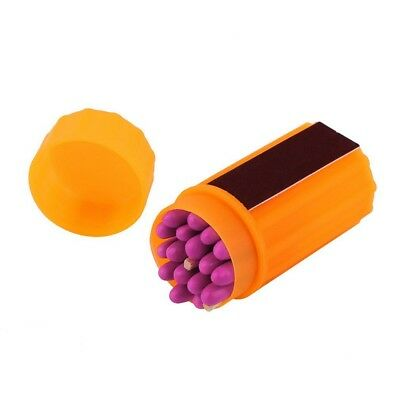 Outdoor Stormproof Windproof Waterproof Matches Kit Orange Case 20 Matches DH