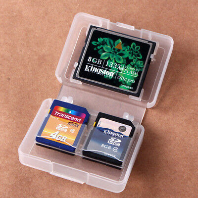 CF/SD Card Compact Flash Memory Card Protecter Box Storage Plastic Case Holder