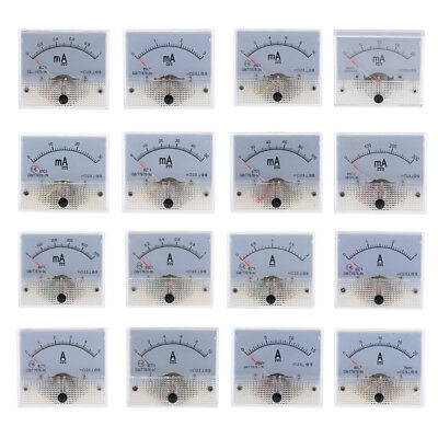 0-1mA To 0-20A DC Ammeter Analogue Panel Amp Meter Analog Current Panel New