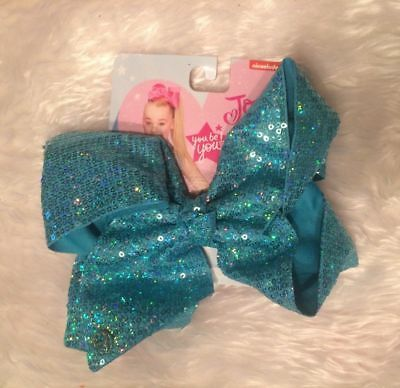 💗💗 💗💗 Jojo Siwa Signature Large BLUE Sequin Bow -  GREAT for spring pic's 💗