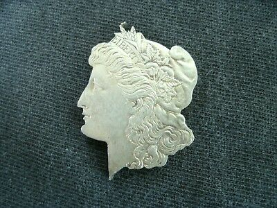LIBERTY HEAD PENDANT cut from MORGAN SILVER DOLLAR in GREAT CONDITION