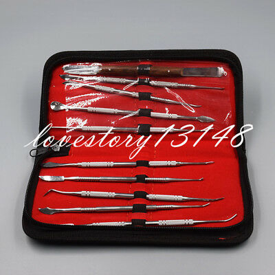 1Set Dental Lab Equipment Surgical Wax Carving Tools Set Dentist Sculpture Knife