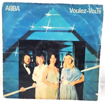 Vintage Rare Collectible Gramophone Music Record Voluez-Vous by Group ABBA ER118