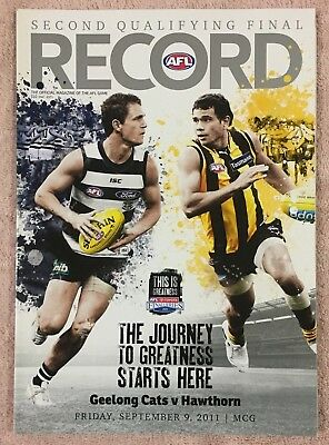 Geelong V Hawthorn Afl 2011 2Nd Qualifying Final Record Cats V Hawks Mcg
