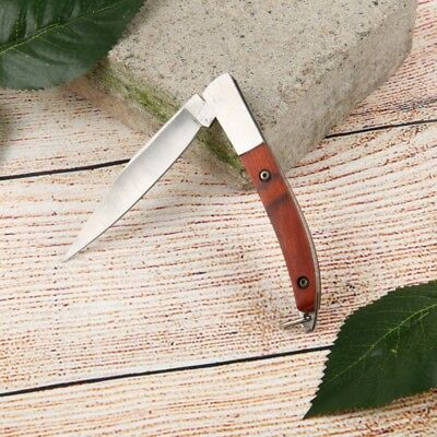 Mini Portable Wood Handle Knife Multi-use Outdoor Hunting Camping Rescue Tools