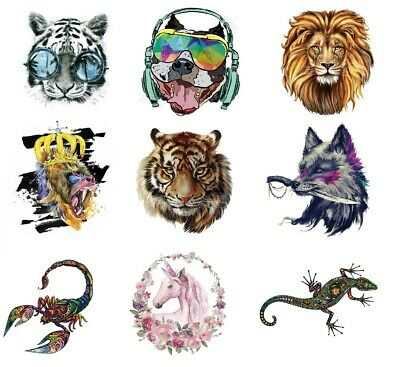 Animal Iron On Large Patch Transfer Back Heat Stickers 87 DESIGNS   - BU1293