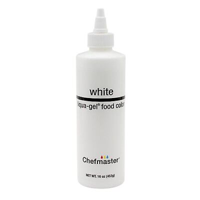Chefmaster WHITE Liqua-gel 453g (16 oz) - whiten buttercream soft gel paste